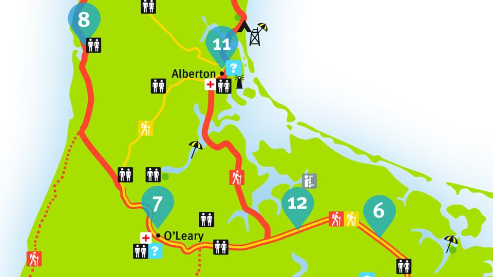 Island Walk Map 11-12