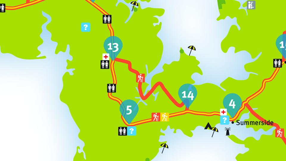 Island Walk Map 13-14