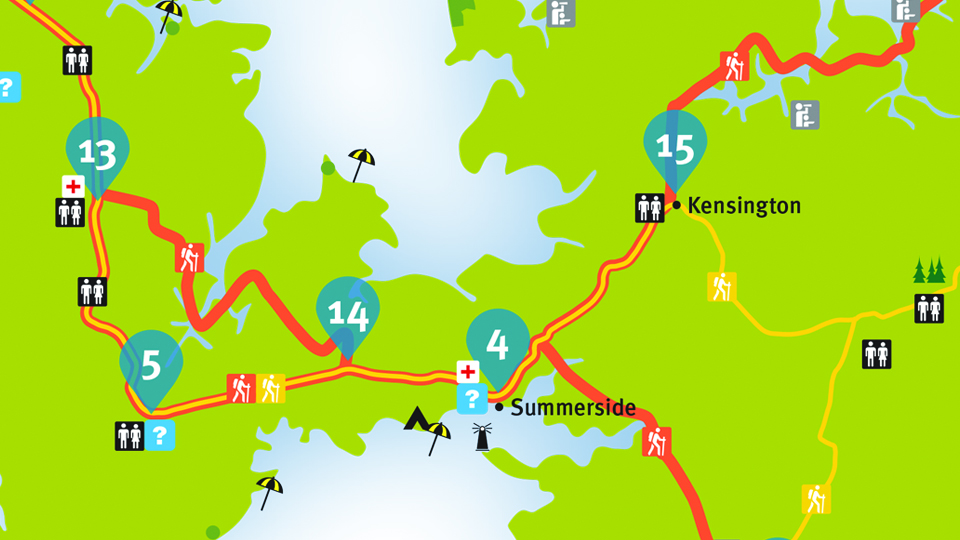 Island Walk Map 14-15