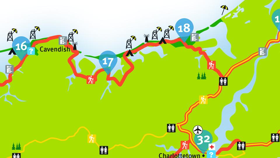 Island Walk Map 17-18