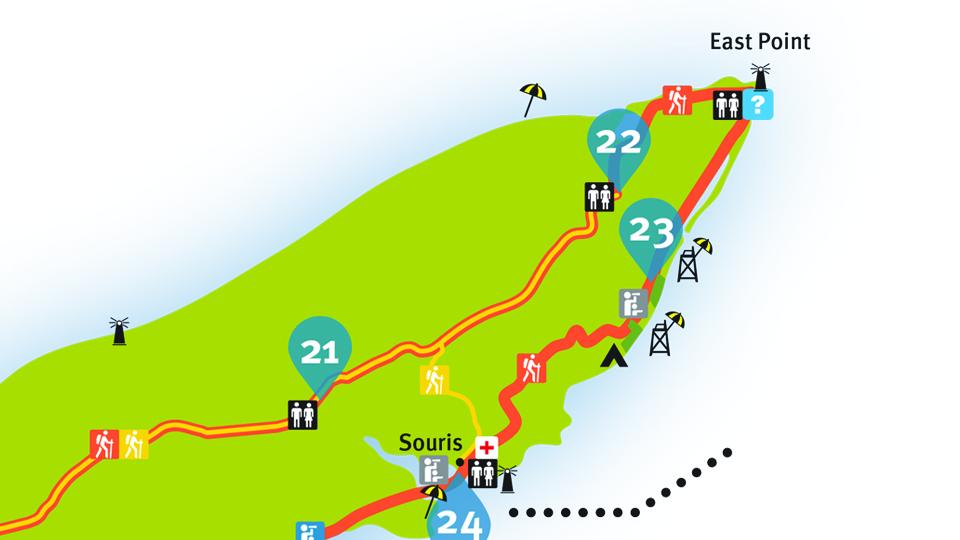 Island Walk Map 21-22