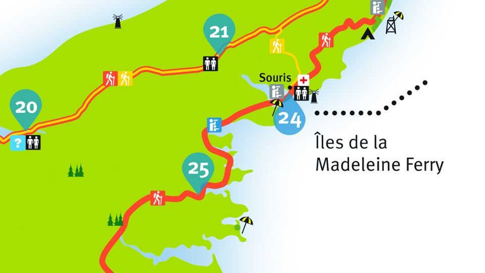 Island Walk Map 24-25