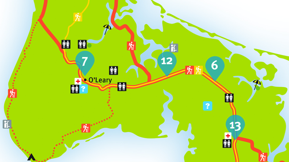 Island Walk Map 6-7
