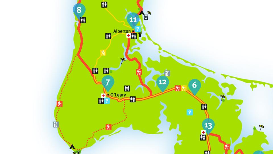 Island Walk Map 7-8 Small